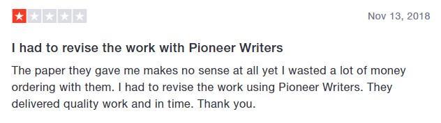 Negative Edusson.com review by a client - screenshot