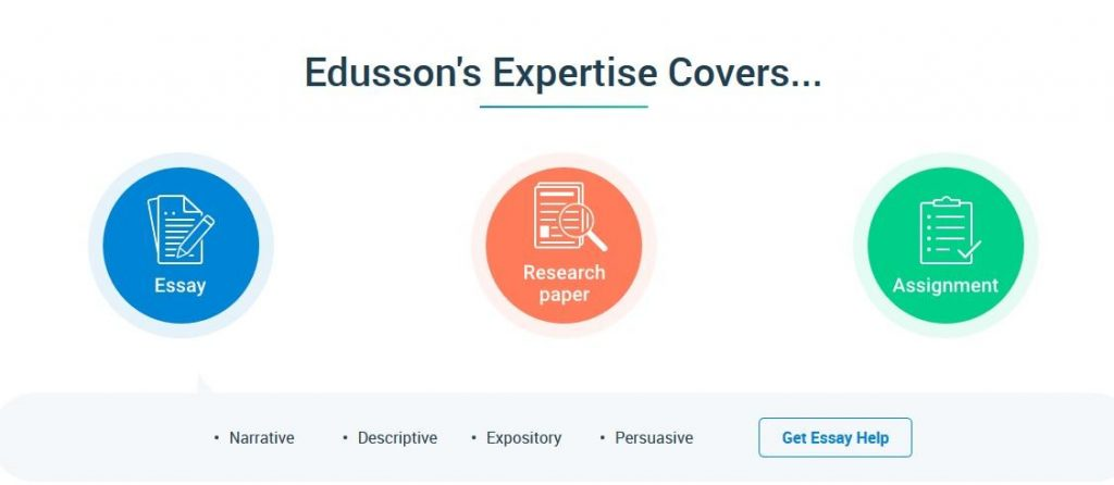 Edusson.com services list - image